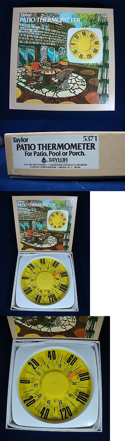 Outdoor Thermometers 75601: Taylor Outdoor Patio Thermometer Vintage Nos  New  U003e BUY IT NOW