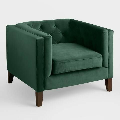 Forest Green Accent Chair // From World Market