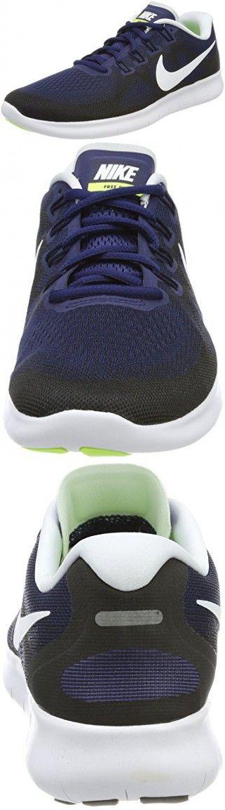 NIKE Men's Free RN 2017 Running Shoe Binary BlueWhite Black