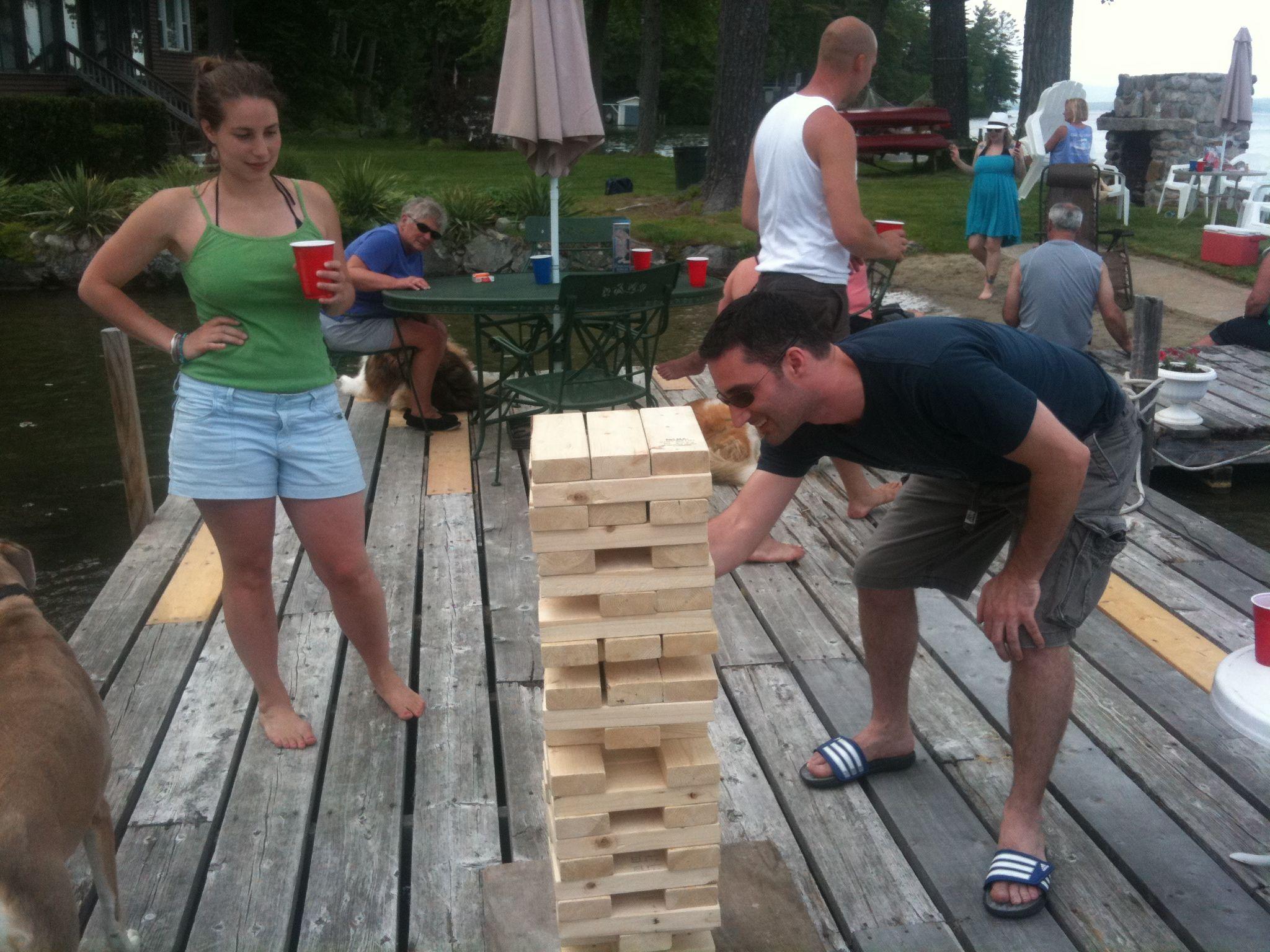 Human Jenga Game