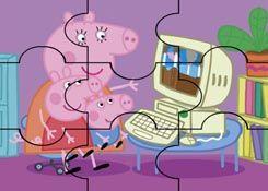 JuegosdePeppacom  Juego Rompecabezas Computadora Peppa Pig
