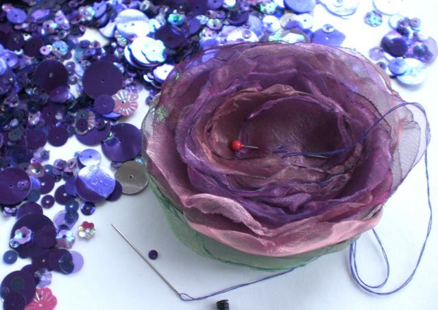 How To Make Fabric Flowers From Organza Anjies Blog Sewing