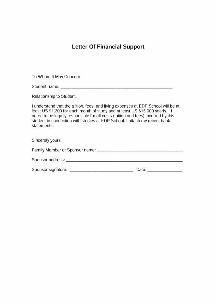 36+ Financial support letter sample ideas in 2021