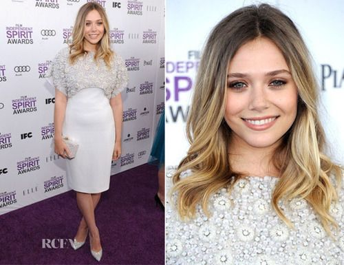 Elizabeth Olsen very pretty hair, just like her sisters
