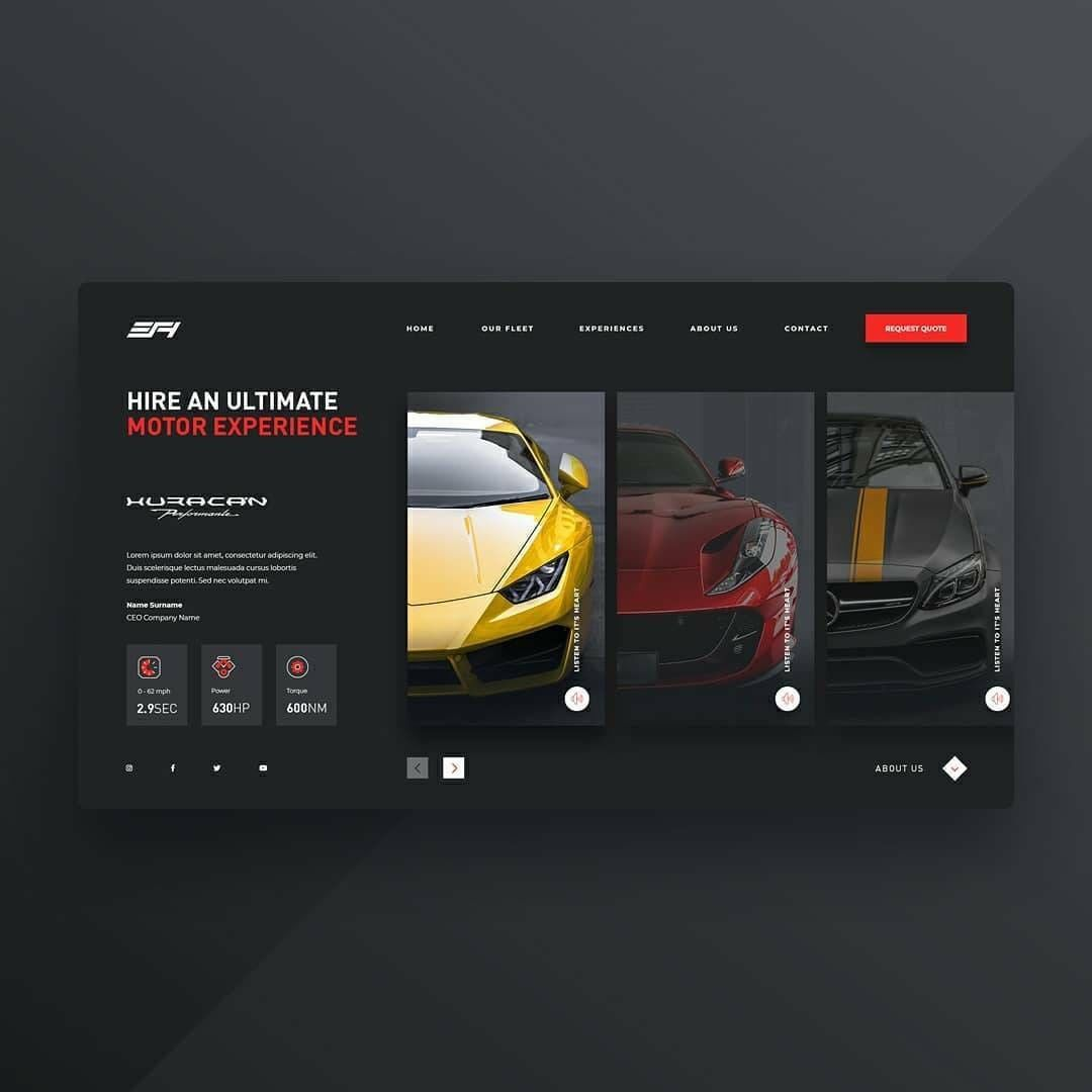 """Website Design & Development on Instagram: """"Web design Inspiration. Need a website? DM now. For pricing and details of my service, please click the link in bio.  Follow…"""""""