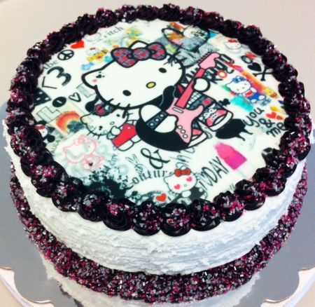 Rockstar Hello Kitty Cake The Best Food Blogger Recipes