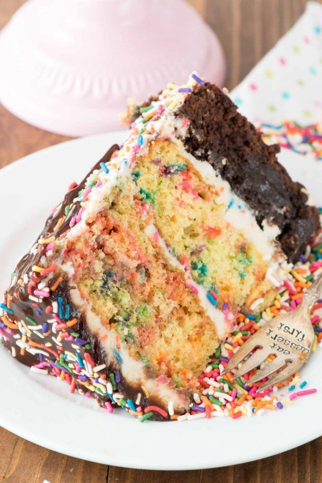 Funfetti Brownie Layer Cake Crazy for Crust Brownies Crusts and