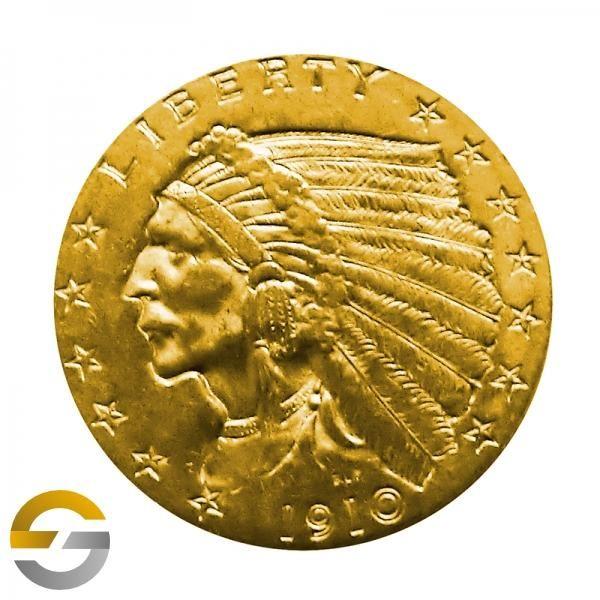 Usa Indianer Goldmünze 2 12 Dollars 376 Gramm Feingold 376g
