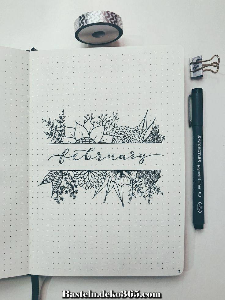 Tolle Easy Bullet Journal, Wie man ein organisiertes Leben kreativ gestaltet #bulletjournal
