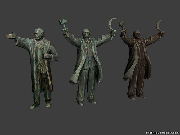 Lenin Statue 3d model free | beethoven_intro | Model, Statue