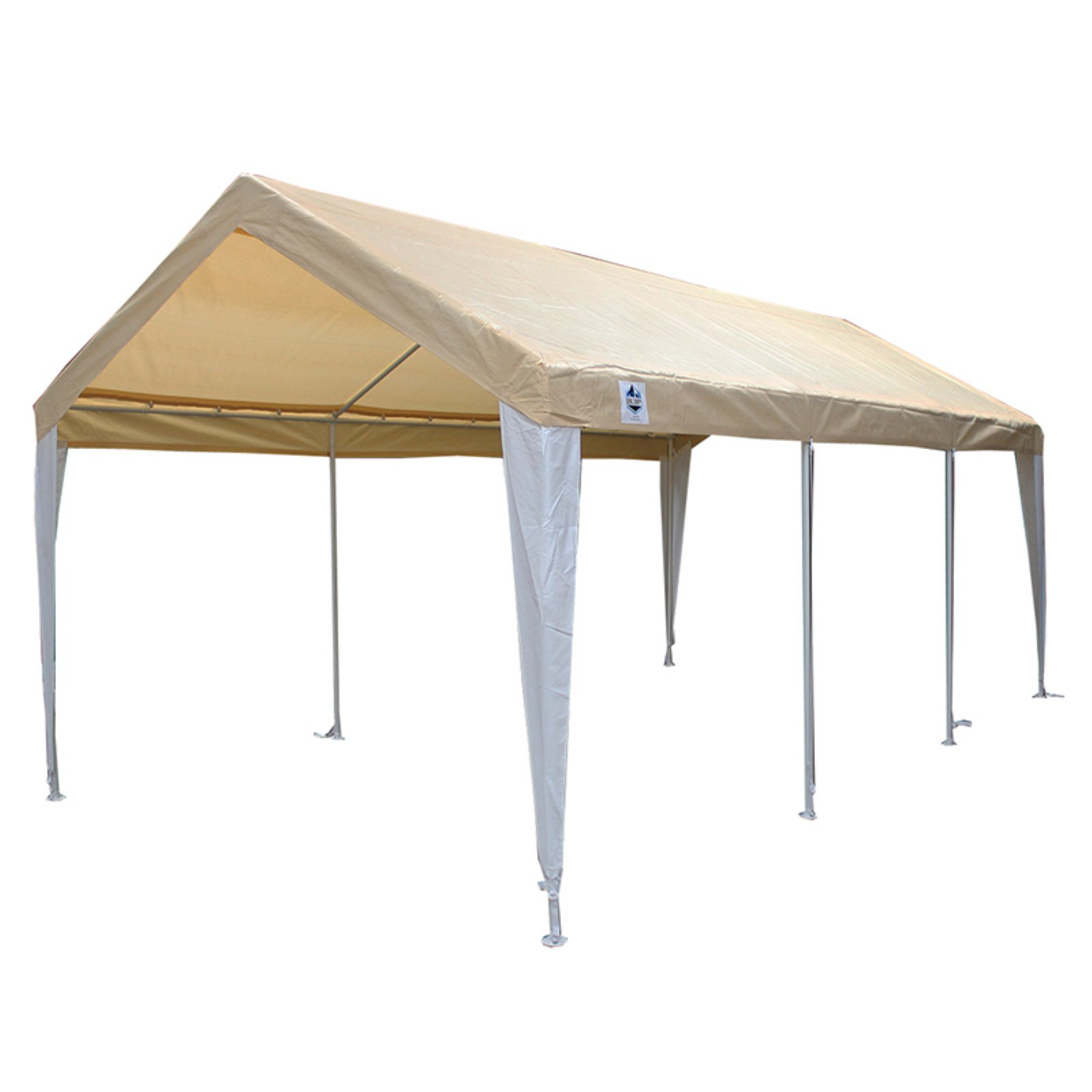 King Canopy 10 x 20 ft  Hercules 8 Leg Two Tone Carport