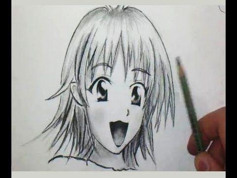 Comment dessiner un visage manga de fille tutoriel comment dessiner des personnages - Comment dessiner des manga fille ...