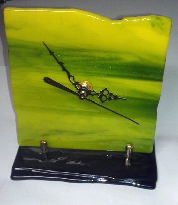 Fused Glass Art Clock !This can be found at the Blue Ridge Mountains Arts Association (The Art Center) gallery gift shop. Blue Ridge, GA