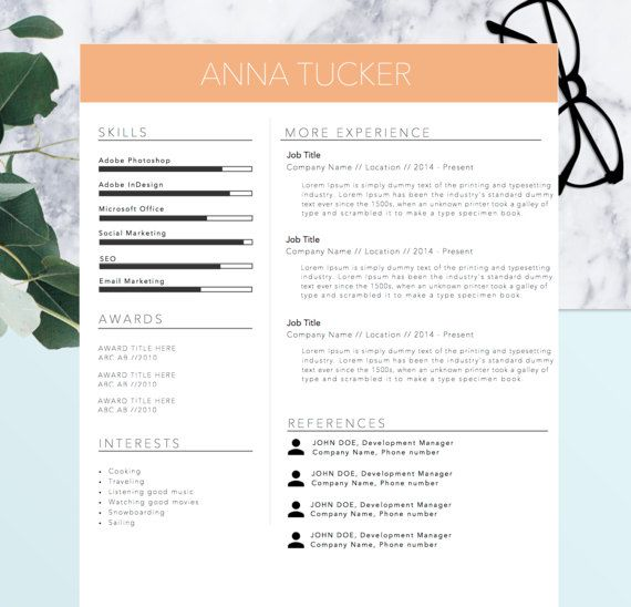 resume template   references template for word