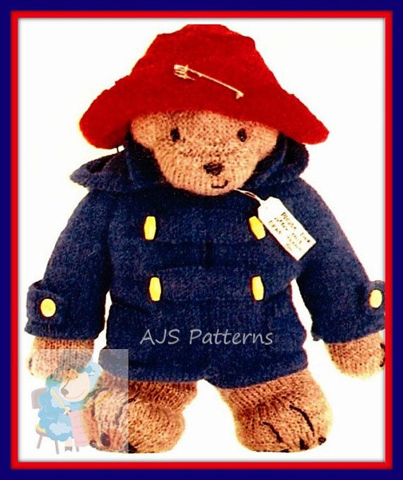 PDF Knitting Pattern for Paddington Bear Soft by TheKnittingSheep ...