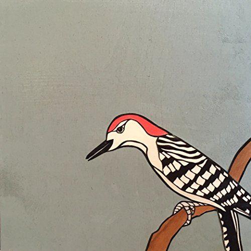 "Woodpecker by Dylan Metrano Papercutting Woodblock Original Art 8""x8"" Paula Estey Gallery http://www.amazon.com/dp/B0189PBTUM/ref=cm_sw_r_pi_dp_TT-Jwb0B9MRYD"