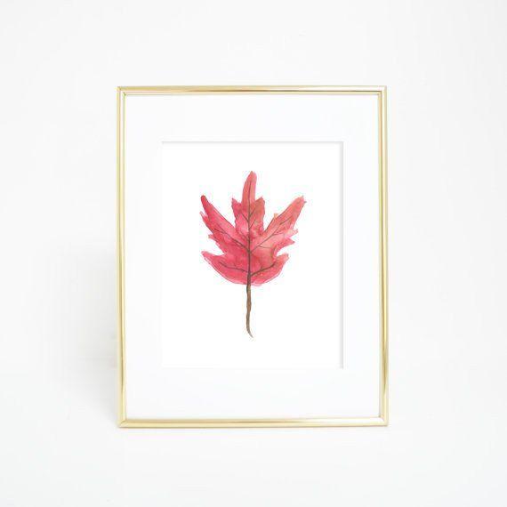Red Maple Leaf Art Digital Download