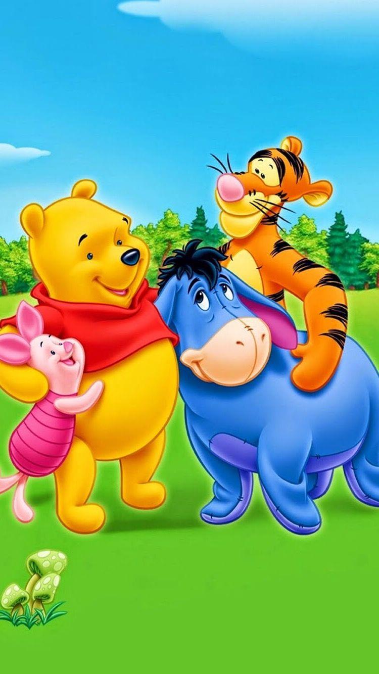 Hd Iphone Wallpaper Winnie The Pooh Karakter Disney Kartun Hewan