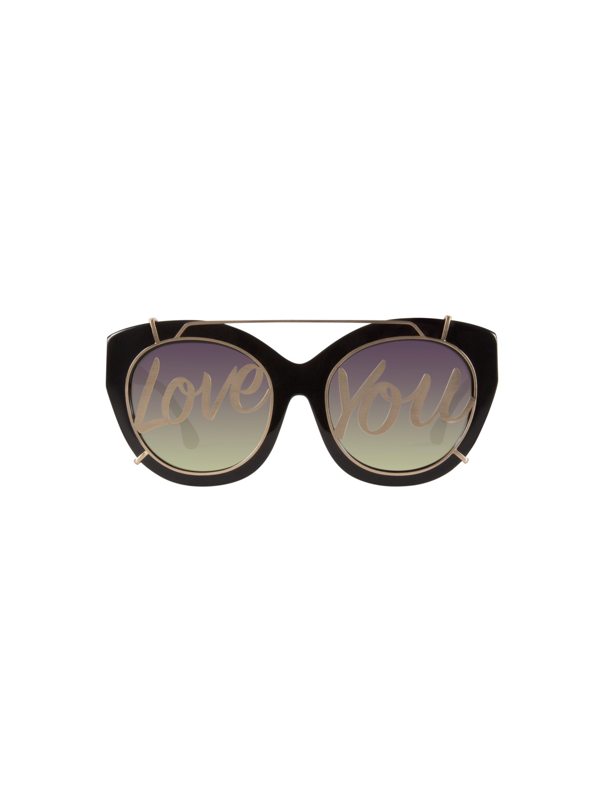 Walker Cat-eye Glittered Acetate And Gold-tone Sunglasses - Charcoal Alice & Olivia 567S0