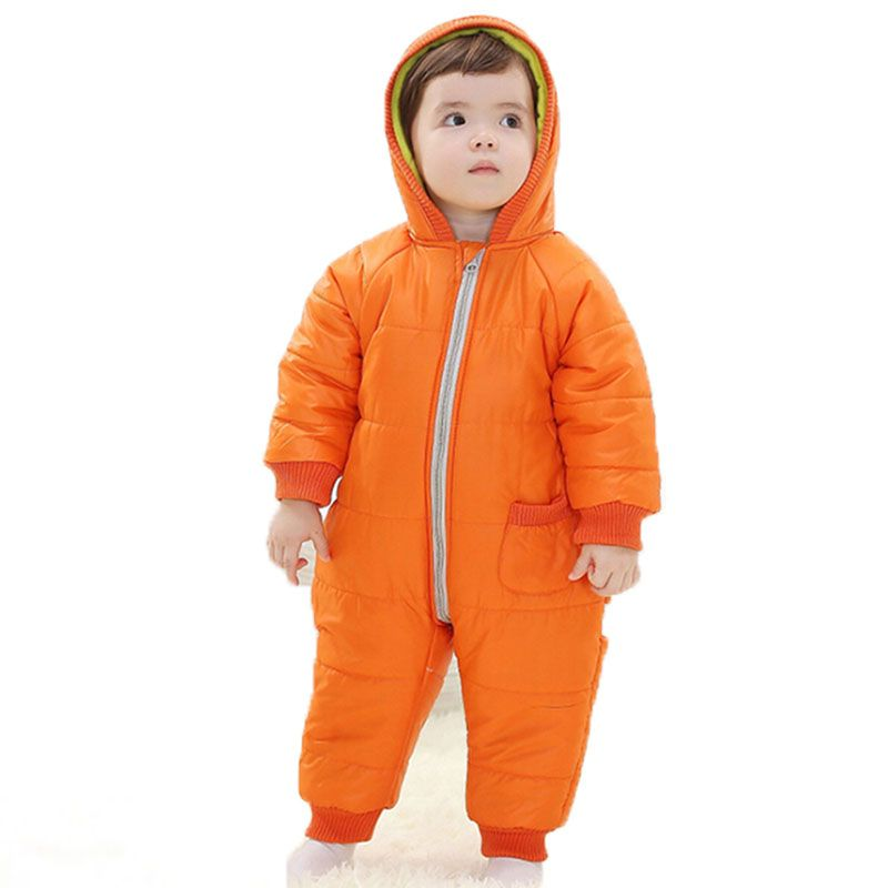 9-24Months 아기 겨울 옷 소녀 소년 장난 꾸러기 따뜻한 러시아어 아기 겨울 죄수 복 스키 의류 의류 다채로운 방한복