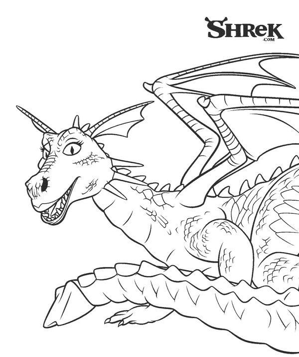 Kinder Kleurplaten Draken.Kleurplaat De Draak Kids N Fun Mozaieken Coloring Pages Shrek
