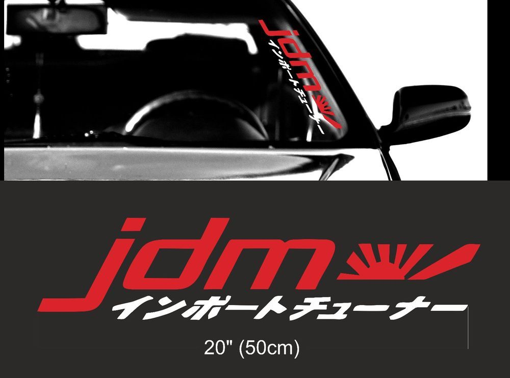Elevated Sticker Vinyl Decal Windscreen Sticker JDM Car Sticker For Honda Acura