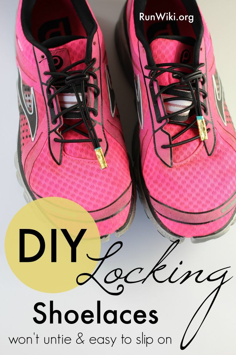 c5c4fe5ae2f How to make your own locking shoelaces. I love this quick and easy DIY for  my running and kids shoes. There is nothing worse than your shoelaces  coming ...