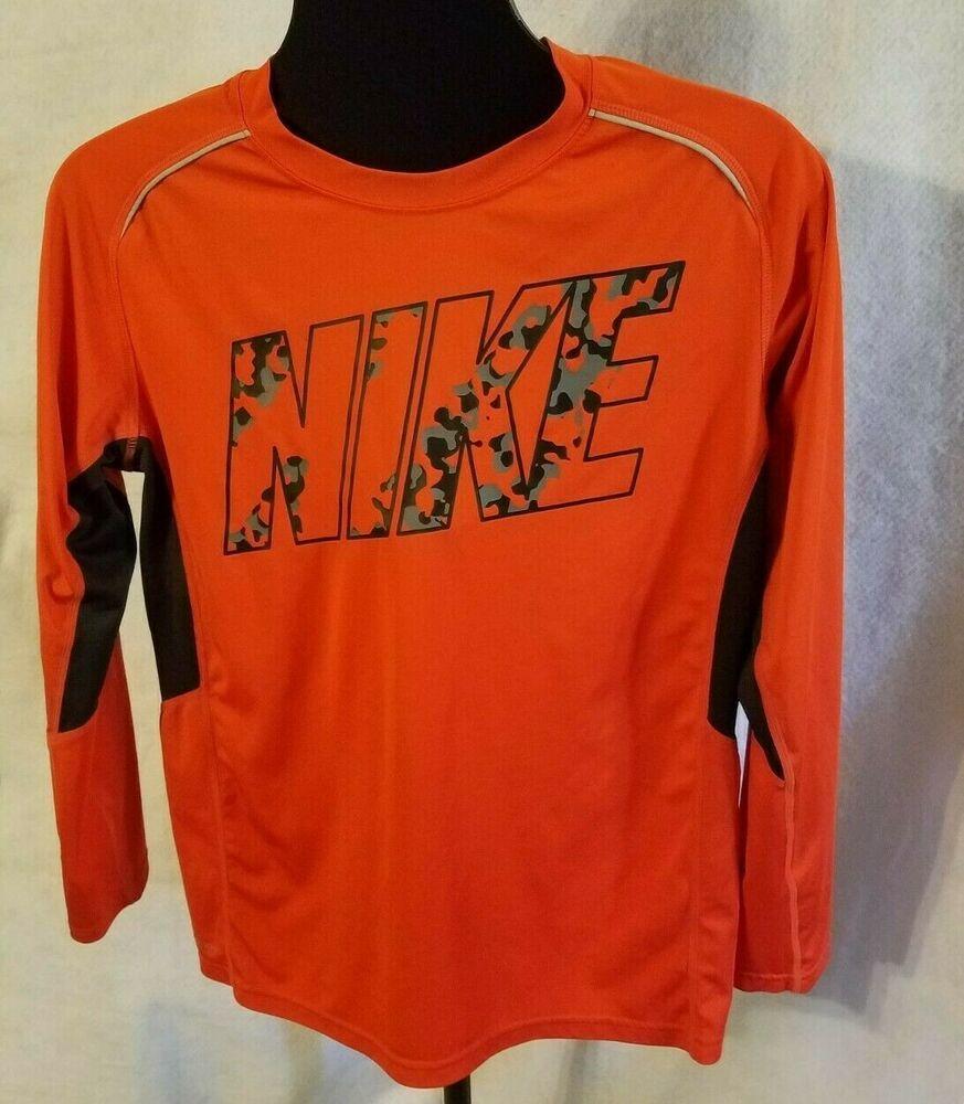 Nike boys tshirt youth size xlg drifit athletic tee long