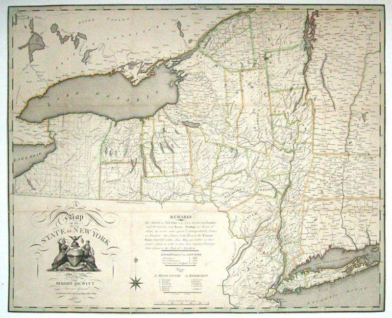 1804 NY MAP Hamburg Hampton Bays Haverstraw Holtsville Montauk Point Berkshire