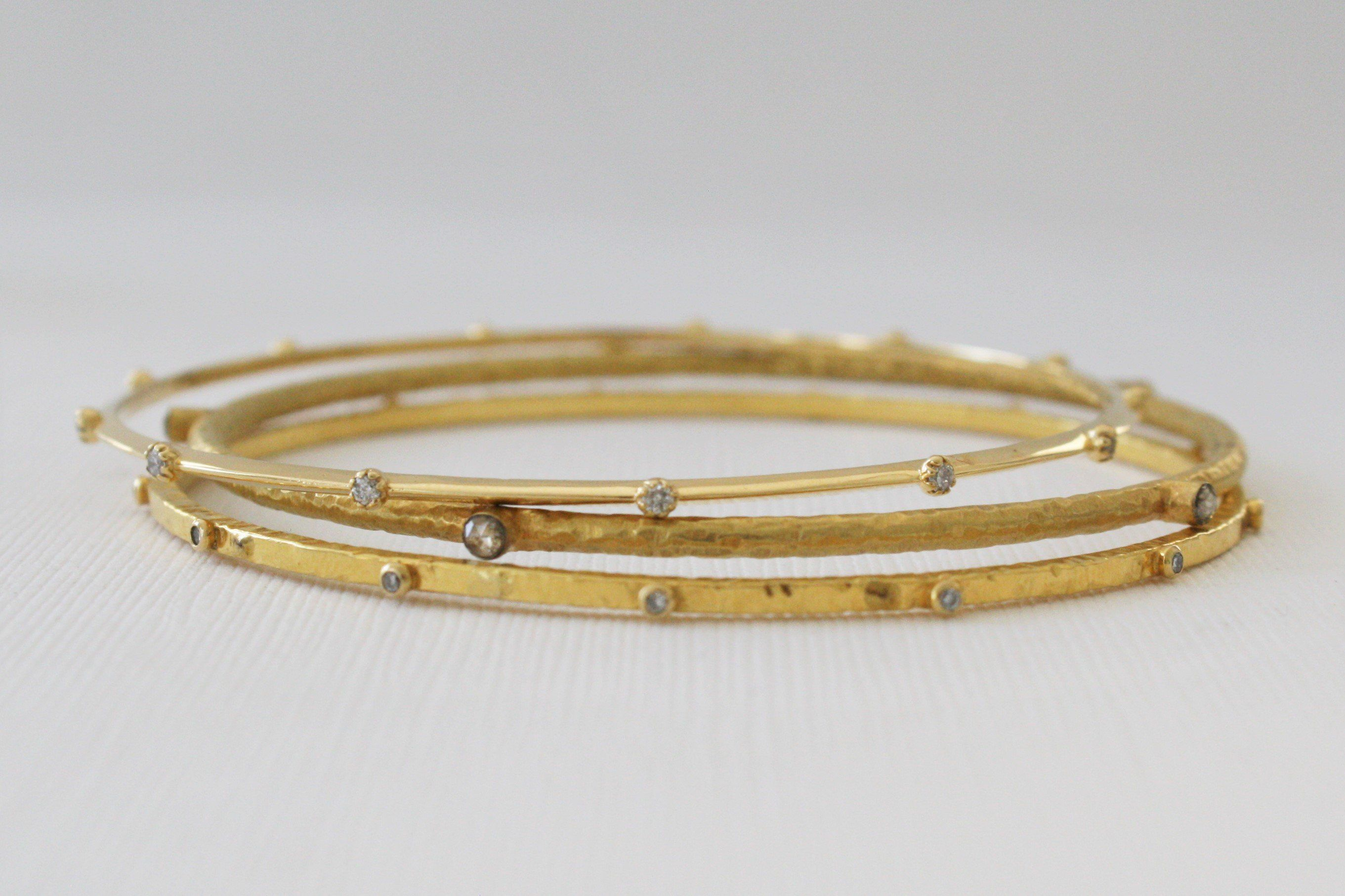 image bangles side gold bangle white polished from solid hinged womens bracelets
