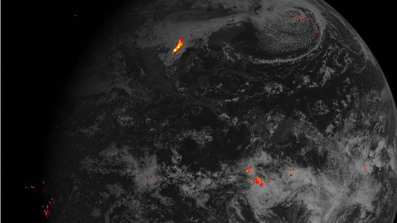 WATCH: Tracking Lightning Strikes, From Space : The Two-Way : NPR