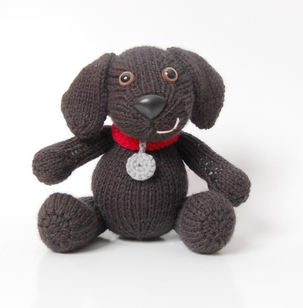 Lucy the Labrador Knitting Pattern by Penny Connor