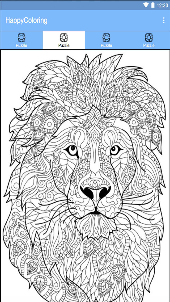 Paint By Number Happy Color Pixel Lion Coloring Pages Animal Coloring Books Mandala Coloring Pages