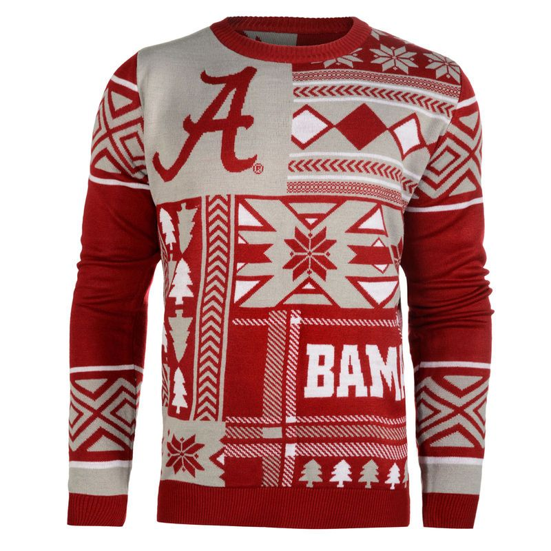 Alabama Crimson Tide Patches Ugly Sweater Crimson Alabama