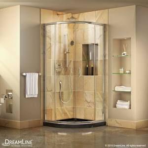 Dreamline Prime Frameless Sliding Shower Enclosure And Slimline 38 In Corner Shower Kits Shower Enclosure Frameless Shower Enclosures