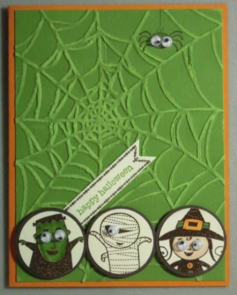 Spider Web Googly Ghouls by amyk3868 - Cards and Paper Crafts at Splitcoaststampers