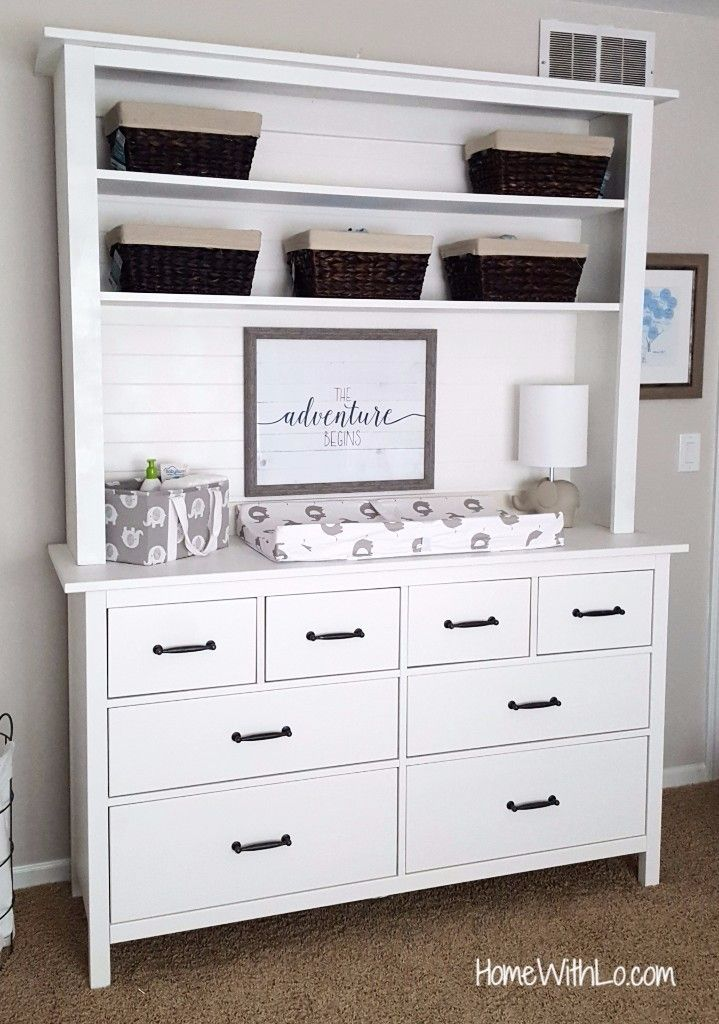 Merveilleux Turning An IKEA Hemnes Dresser Into A Unique Baby Changing Table With Hutch!  Tutorial On How To Change Out The Hardware And Further Customize Your IKEA  ...