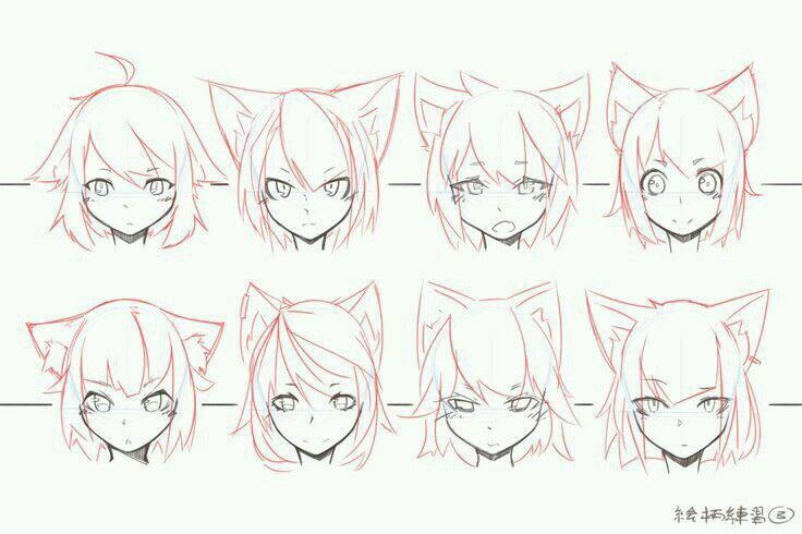 cat ears outline drawing in 2019
