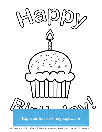 Happy Birthday Coloring Pages - FREE Printable Coloring ...