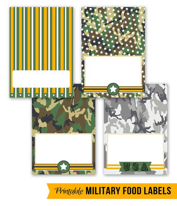 Cool Military Party Printables For The Party // By