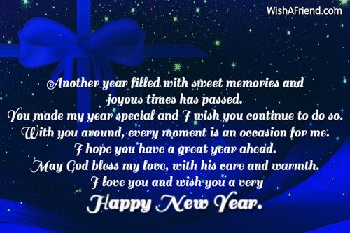 another year filled with sweet memories new year wish