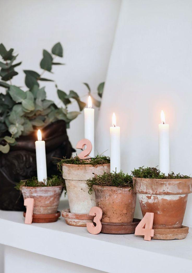 Advent DIY l Adventskranz zu Weihnachten basteln ❤ / juliadavisphoto.ml #dekowinter