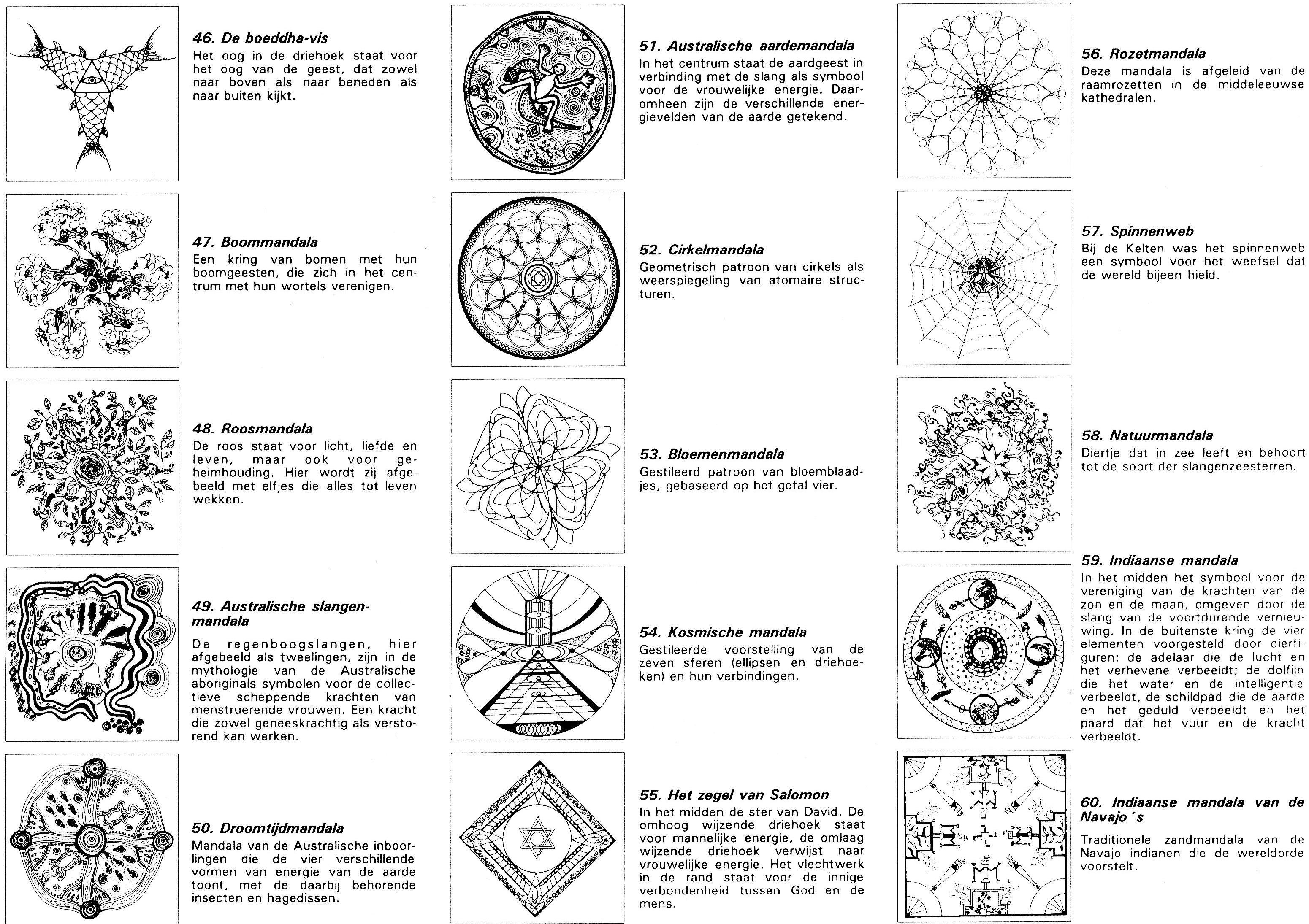 Uitleg Over Nummer 46 T M 60 Mandala Kleurplaten Mandala Kleurplaten