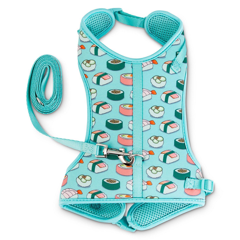 Good2go Sushi Print Big Cat Harness And Leash Set Petco Cat Harness Cat Supplies Cat Leash