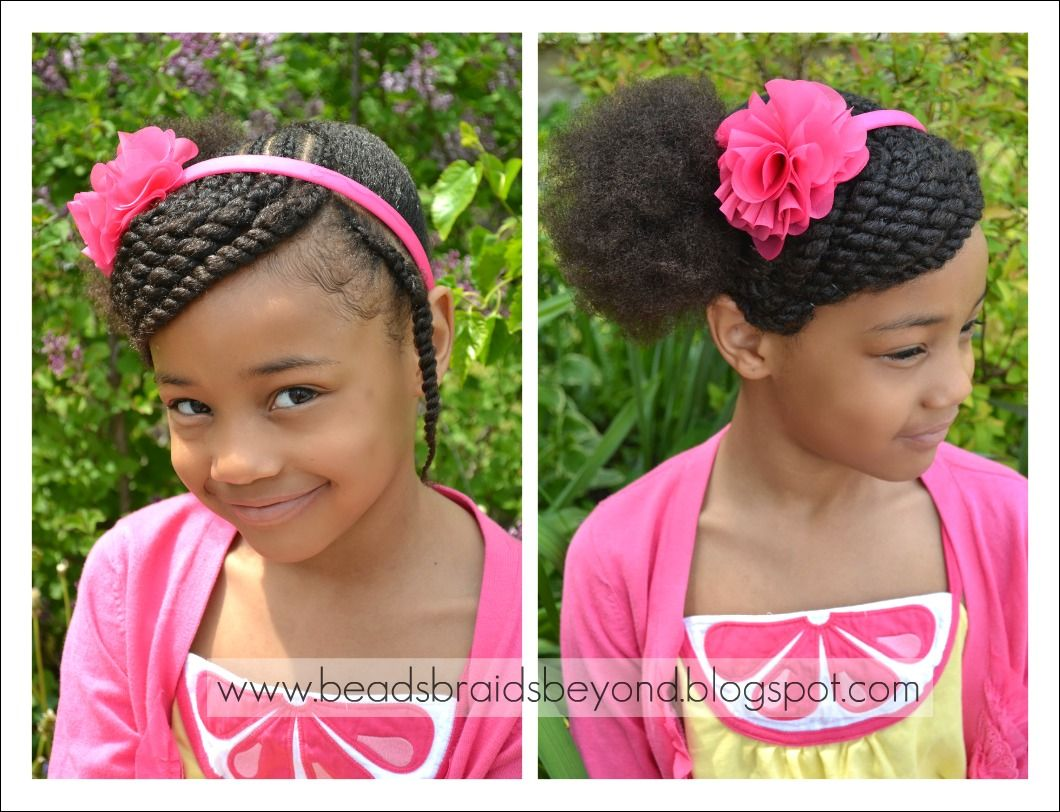 beads, braids and beyond: little girls hairstyle: side swept two