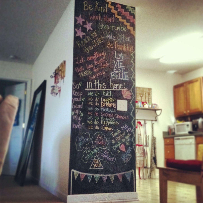 chalkboard wall art Mos Makings Pinterest Chalkboard wall