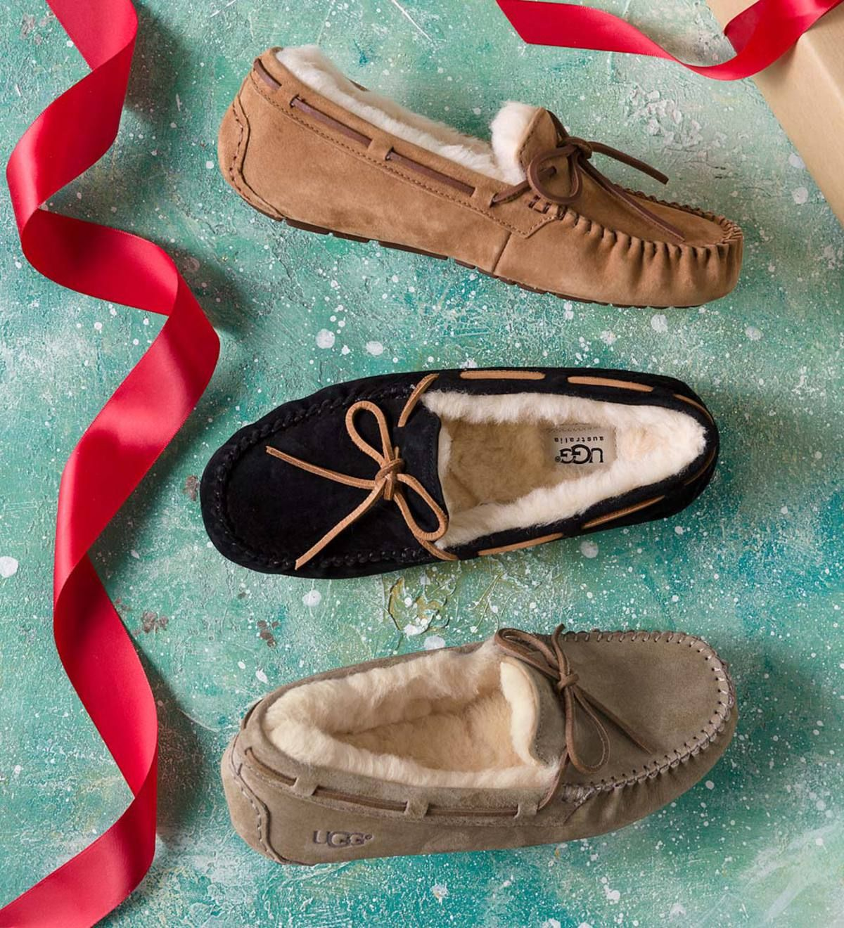 50192e6115f UGG® Women's Dakota Moccasin Slippers has a suede upper that's fully ...