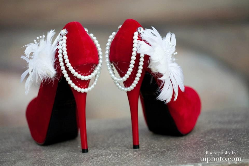 aa7e3c5698e6 Stunning red wedding pumps by Allfortheglam on Etsy