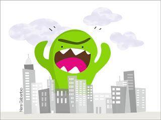 grrrrr... monster time! #kawaii #city