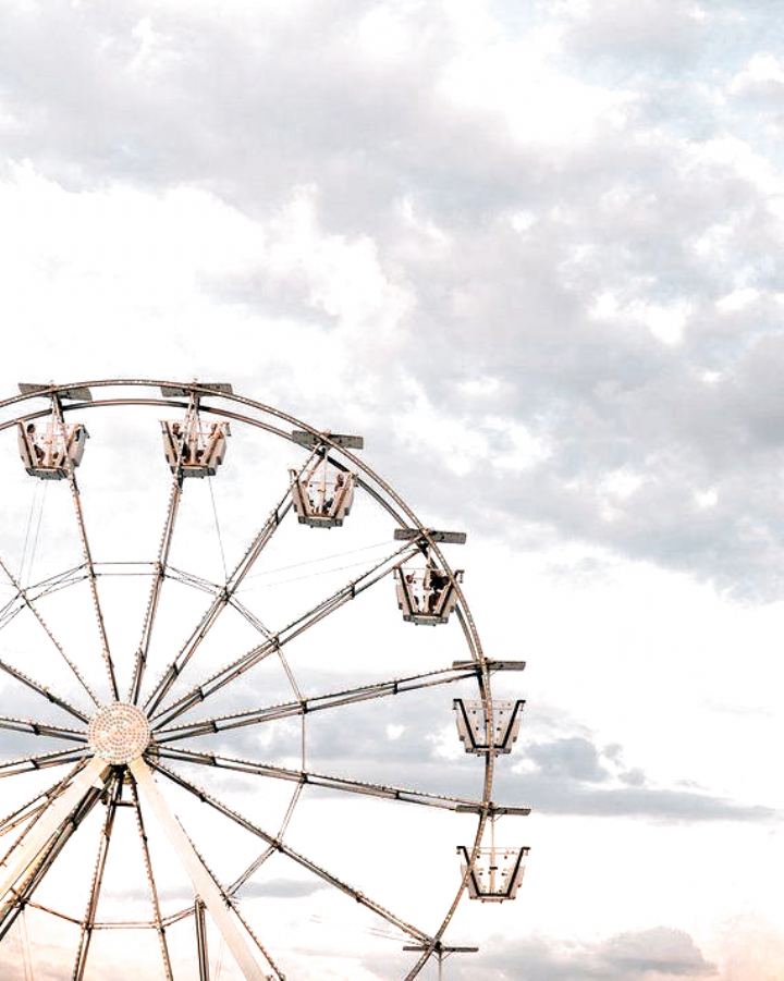 Carnival Photography Ferris Wheel Pastel decor Vintage photography Sunset Art American Decor